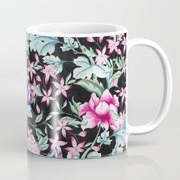 Floral Pattern 1 Black Coffee Mug