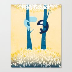 Tree Whales Canvas Print