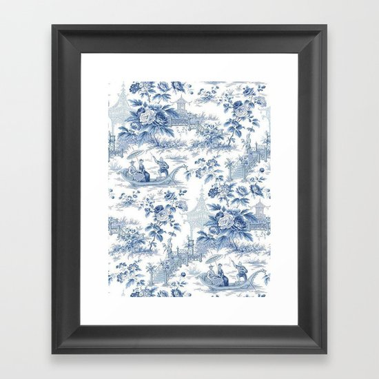 Powder Blue Chinoiserie Toile by thechinoiseriepavillion