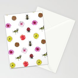 Bugs and Florals Stationery Cards