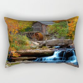USA Watermill Creek Babcock State Park Nature Autumn Waterfalls park forest water mill Parks Forests Rectangular Pillow