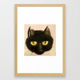 midnight kitty Framed Art Print