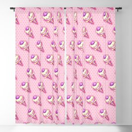 """""""Strawberry ice cream for the boy and the girl"""" Blackout Curtain"""