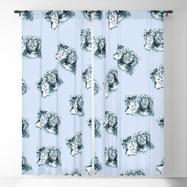 Blue Baby Cats Blackout Curtain