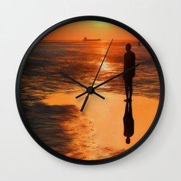 Three Gormley Iron Men Wall Clock