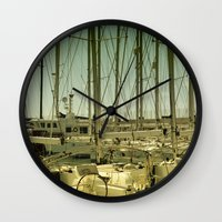 marina Wall Clocks featuring marina by gzm_guvenc