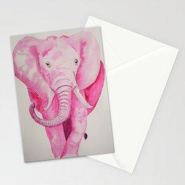 Fuchsia Elephant Stationery Cards