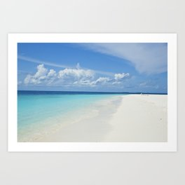 The Maldives' Blue Art Print