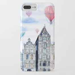 Amsterdam and balloons watercolor iPhone Case