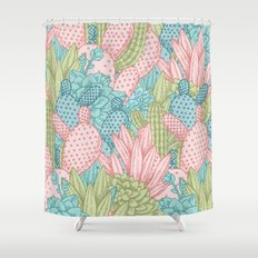 Pastel Cacti Obsession #society6 Shower Curtain