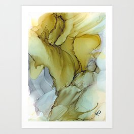 Golden Art Print