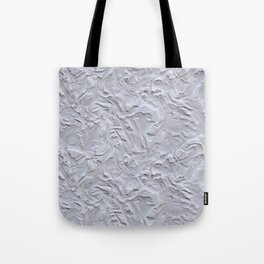 White Rough Plastering Texture Tote Bag