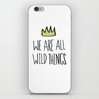 wild things iPhone & iPod Skins featuring Wild Things by Leah Flores