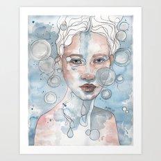 Meditation II, watercolor artwork Art Print