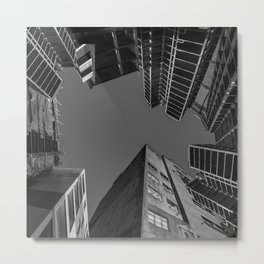 surrounded by structures Metal Print