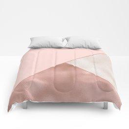Luxury Glamorous Rose Gold Metallic Glitter Comforters