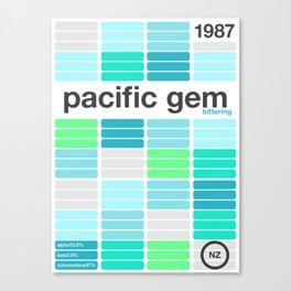 pacific gem single hop Canvas Print
