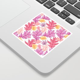 Autumn Leaf Pattern Sticker