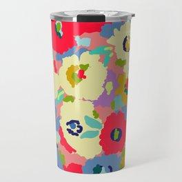 Bright camo flowers Travel Mug