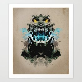 Rorschach Godzilla | Textured Art Print