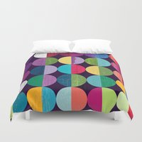 the moon Duvet Covers featuring Moon by Kakel