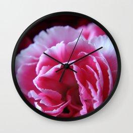 Pink Carnation Wall Clock