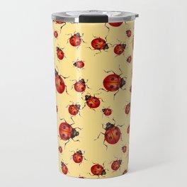 """I LOVE RED LADY BUGS"" ON CREAM COLOR Travel Mug"