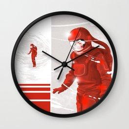 Hiroko in Storm // (astronaut girl) Wall Clock
