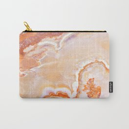 Peach Onyx Marble Carry-All Pouch