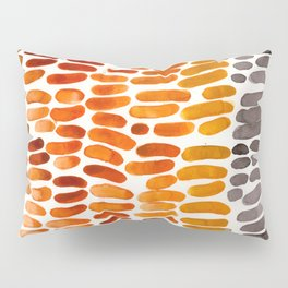 Yellow Ochre Brown Dark Brown Fall Autumn Color Palette Natural Patterns Colorful WatercolorAbstract Pillow Sham