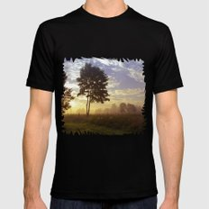 One summer day (wide) Mens Fitted Tee Black MEDIUM