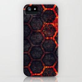 Lava Hexagons iPhone Case