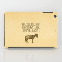pride and prejudice iPad Cases featuring Pride and Prejudice Apology...  by studiomarshallarts