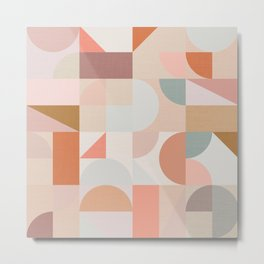 Mid Century Shapes N.03 / Nomade Abstraction Metal Print