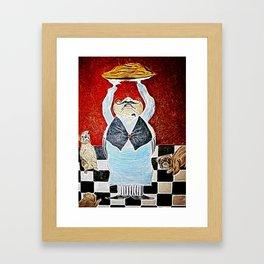 Mamas pizza man Framed Art Print