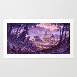 Village in the Clearing - Kylä aukealla Art Print