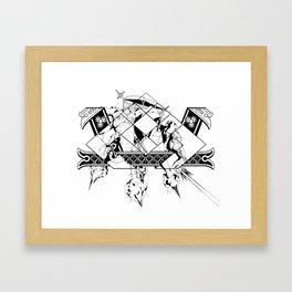Ancient Tandem Psychic War Elephaint  Framed Art Print
