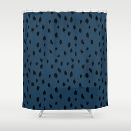Seeing Spots in Midnight Martini Shower Curtain