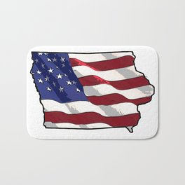 Patriotic Iowa Bath Mat