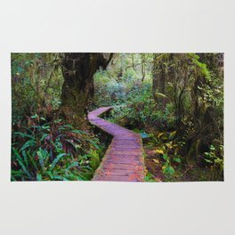 Rainforest Trail, Vancouver Island BC Rug