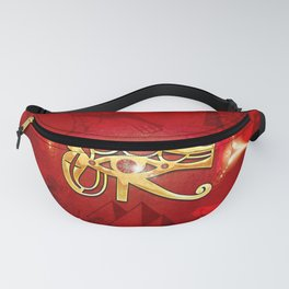 The all seeing eye, golden colors Fanny Pack