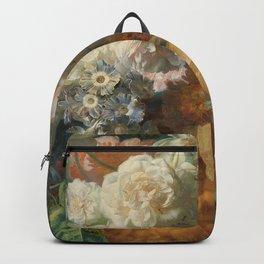 Jan van Huysum - Still life with flowers (1723) Backpack
