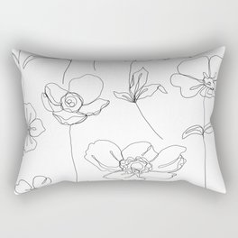 Botanical illustration drawing - Botanicals White Rectangular Pillow