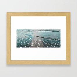 neon ocean Framed Art Print