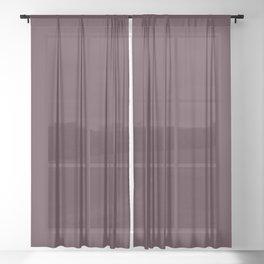 WINETASTING dark solid color Sheer Curtain