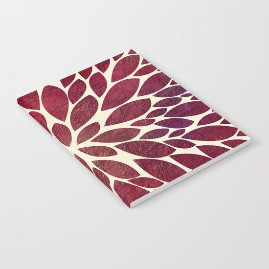 Petal Burst - Maroon Notebook