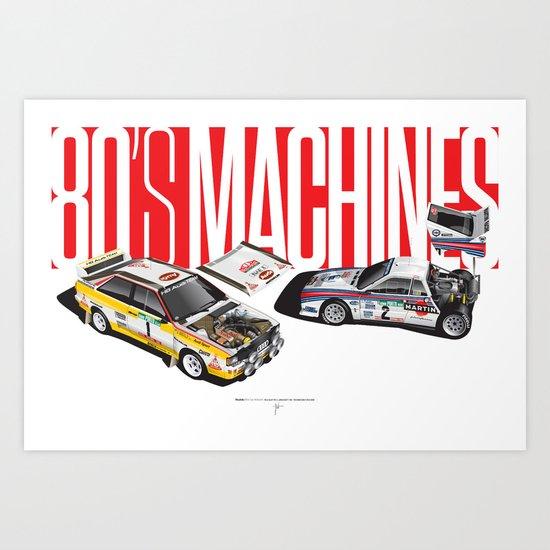 80's Machines Art Print