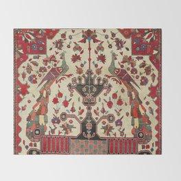 Farahan Arak Antique Persian Rug Throw Blanket