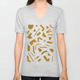Cut out - Yellow Unisex V-Neck