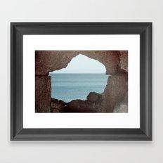 window to sea Framed Art Print